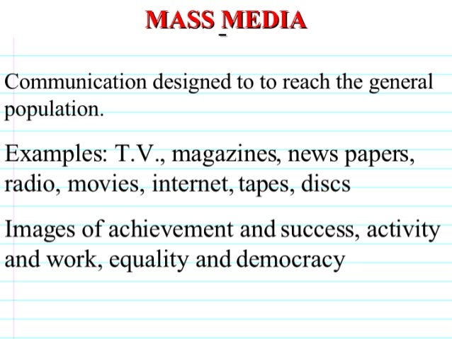 Socialization And Mass Media