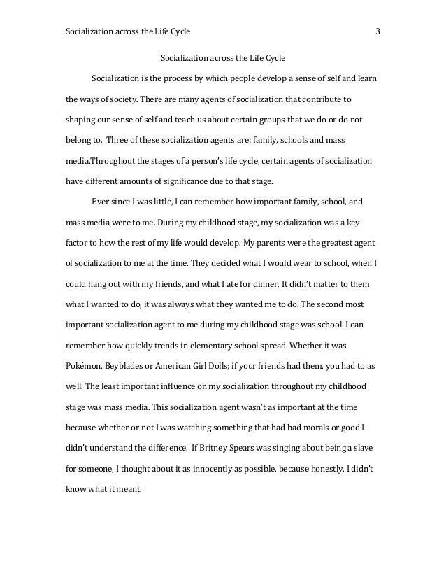 Agents of socialization essay