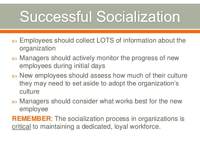 socialization of new employees