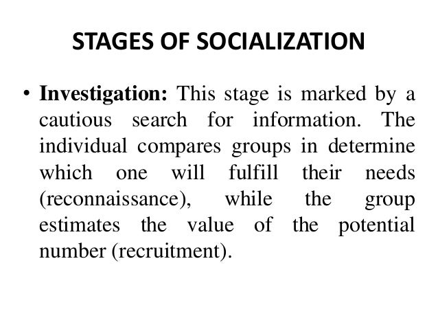 stages of socialization across the lifespan
