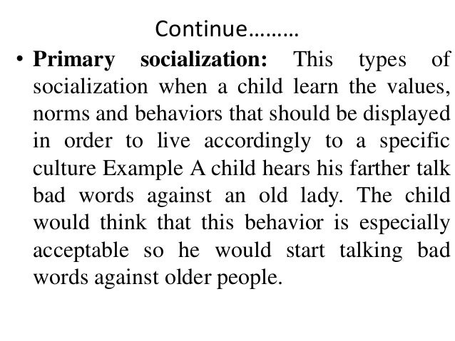 socialization primary socialization 2 purposes of analysis, clarity, and conservation of space the term socialization as it is used in teacher socialization research is relatively new.