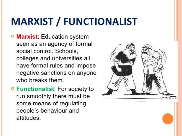 marxist perspective on education Functionalists see vocational education as a good thing – providing the skills needed by employersmarxists see vocational education as a bad thing – it gives w/c children a second class education and an unrealistic expectation for the future.