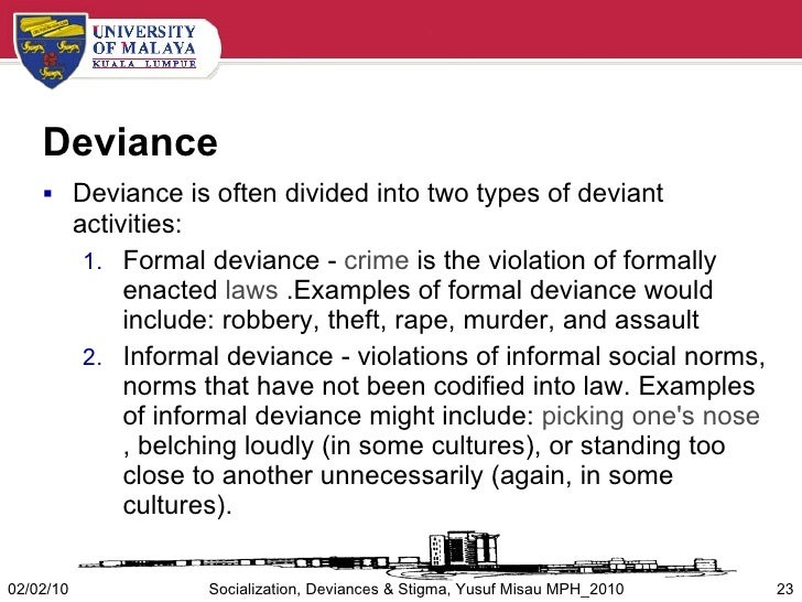 the defense of deviance through defining social norm