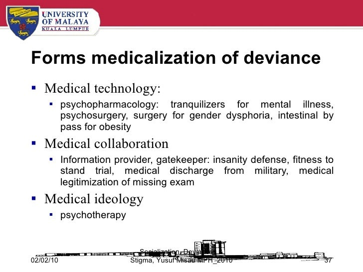 medicalization of deviance definition