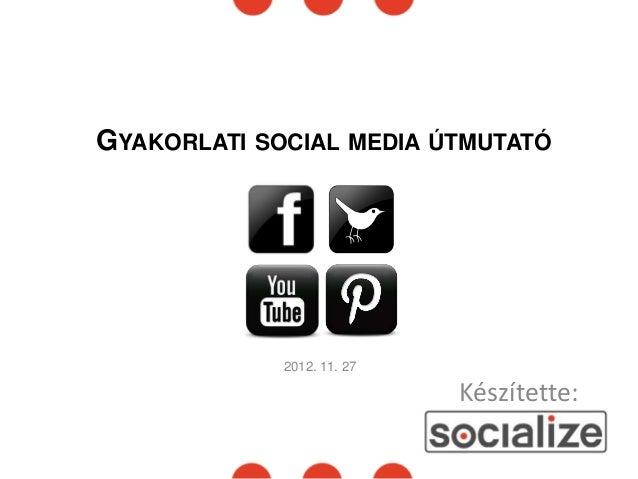 GYAKORLATI SOCIAL MEDIA ÚTMUTATÓ             2012. 11. 27                            Készítette: