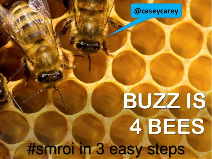 @caseycarey<br />BUZZ IS                       4 BEES#smroi in 3 easy steps<br />
