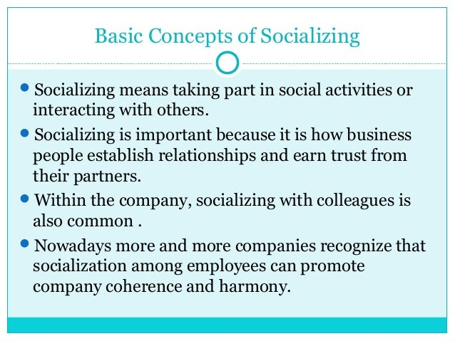 how important is socialization