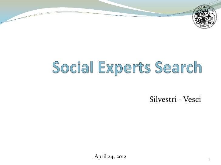 Silvestri - VesciApril 24, 2012                       1
