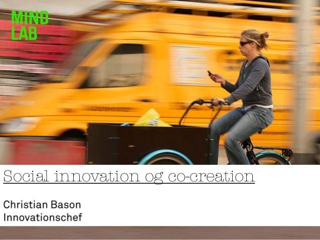 Social innovation og co-creation