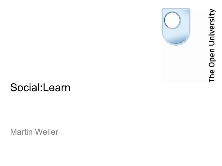 Social:Learn Martin Weller