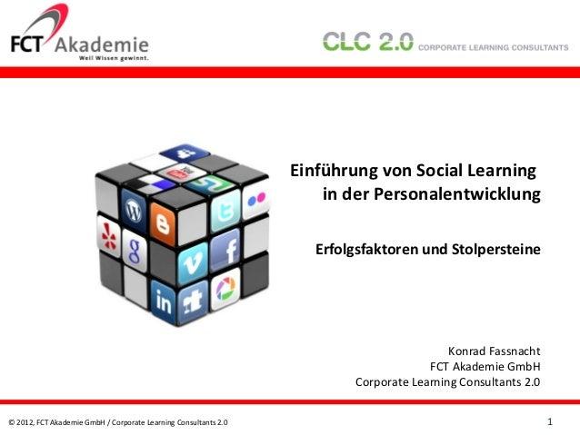 Einführung von Social Learning                                                                     in der Personalentwickl...