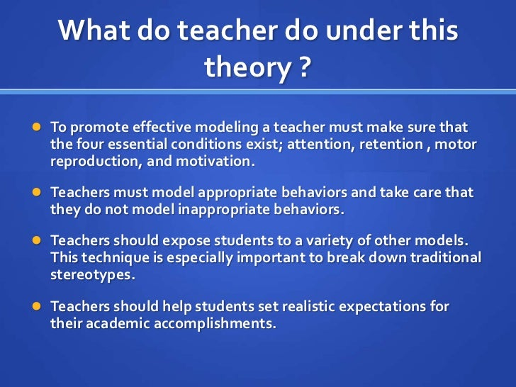 All students can learn theory