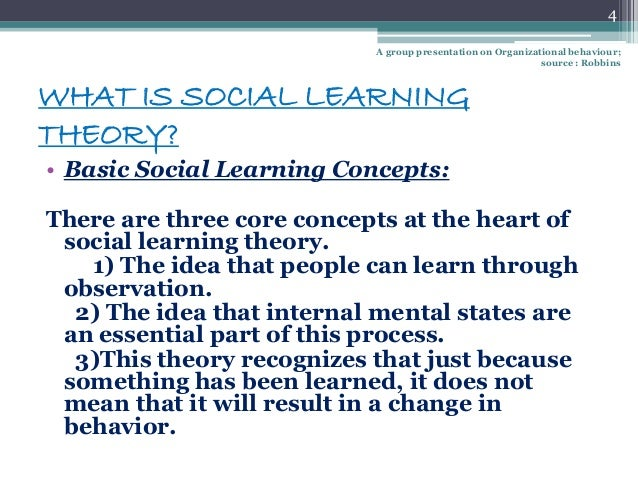 social theory Bandura social learning theory posts that people learn from one another via observation, imitation and modeling.