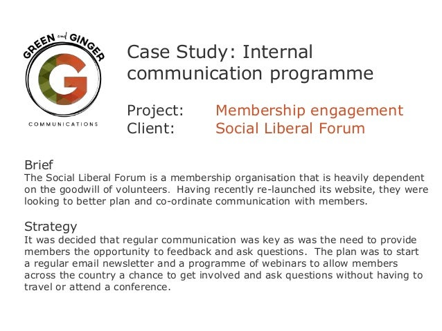 Case study b2b communication