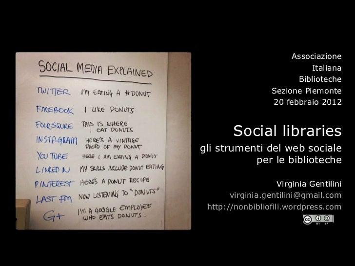 Social libraries 2012