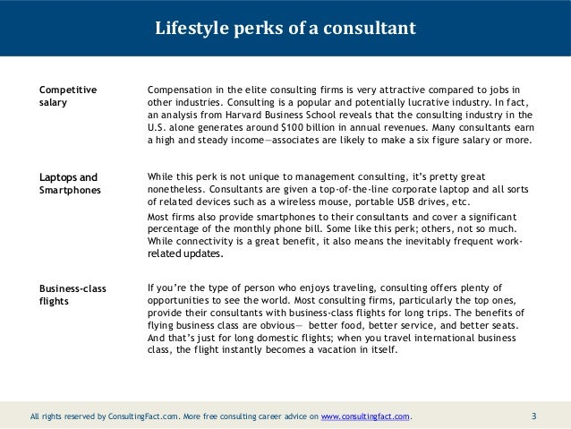 Social life and lifestyle of management consultants – Management Consultant Job Description