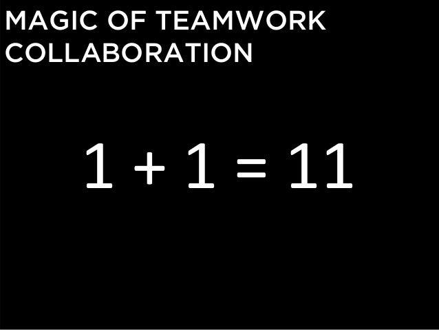 MAGIC OF TEAMWORK COLLABORATION  1+1=11