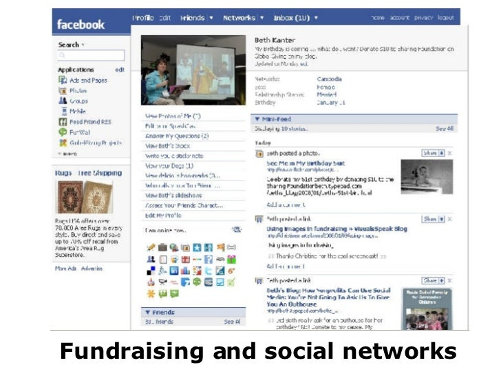 Fundraising and social networks