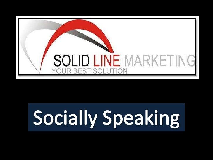 Socially Speaking<br />