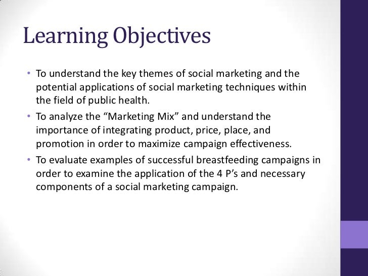 components of social marketing