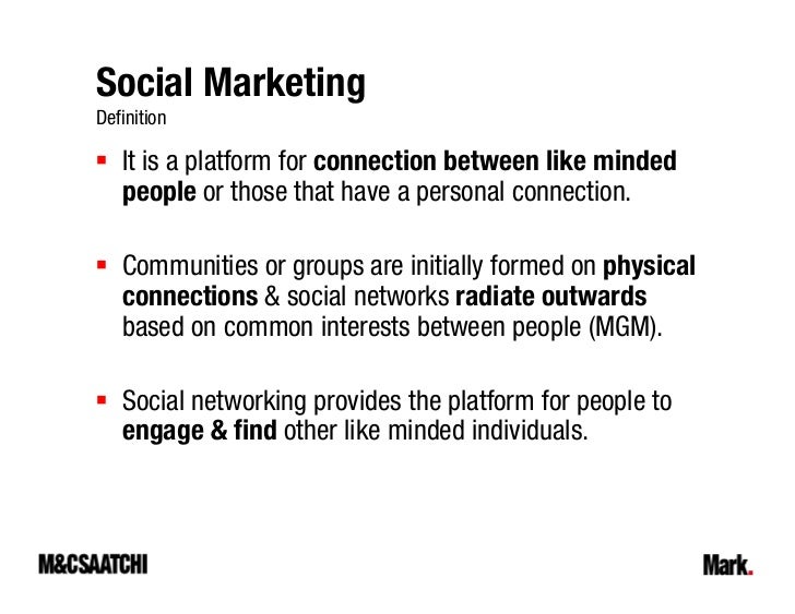 Social Marketing Definition It is Marketing Definition