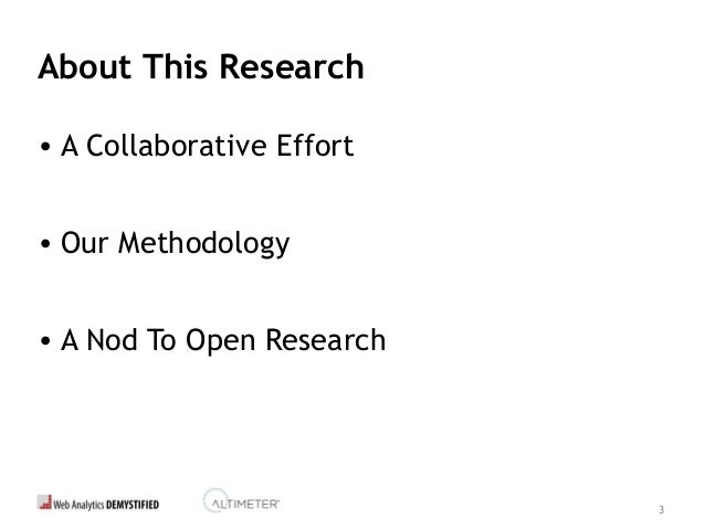 3 About This Research • A Collaborative Effort • Our Methodology • A Nod To Open Research