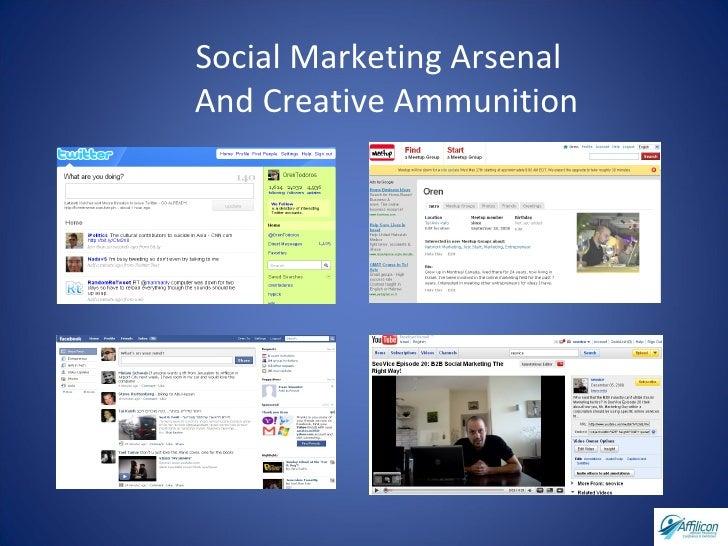 Social Marketing Arsenal  And Creative Ammunition