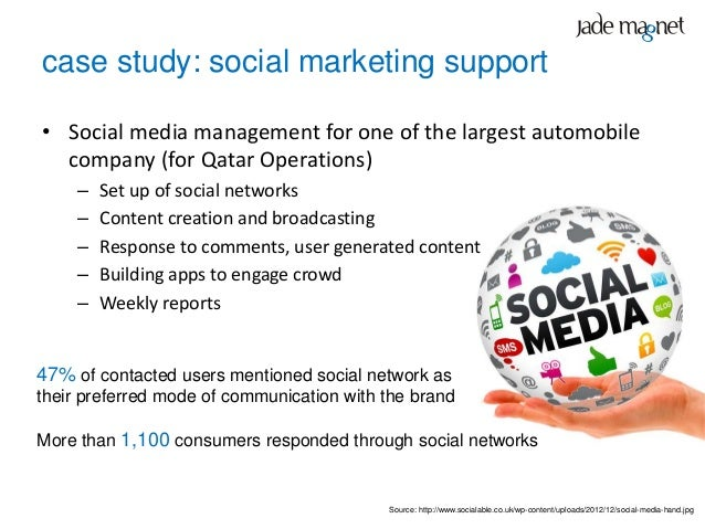 case study: social marketing support• Social media management for one of the largest automobile  company (for Qatar Operat...