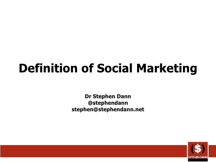 Social Marketing Definition Marketing Definition