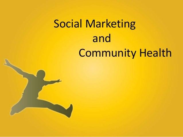 Social Marketing and Community Health