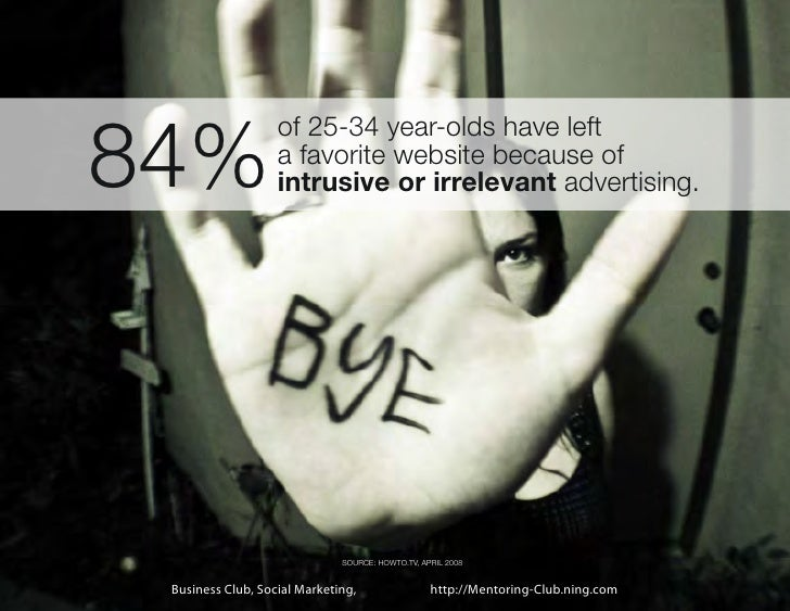 84%                   of 25-34 year-olds have left                   a favorite website because of                   intru...
