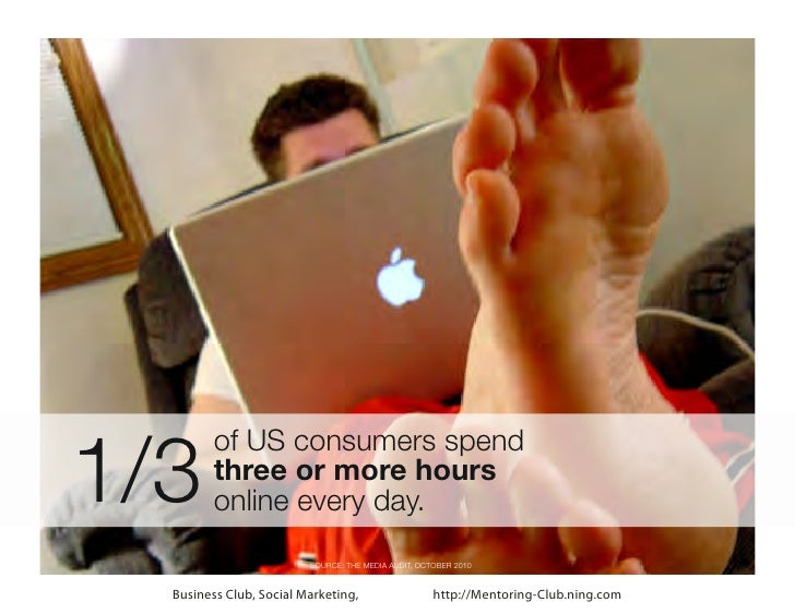 1/3         of US consumers spend         three or more hours         online every day.                         SOURCE: TH...