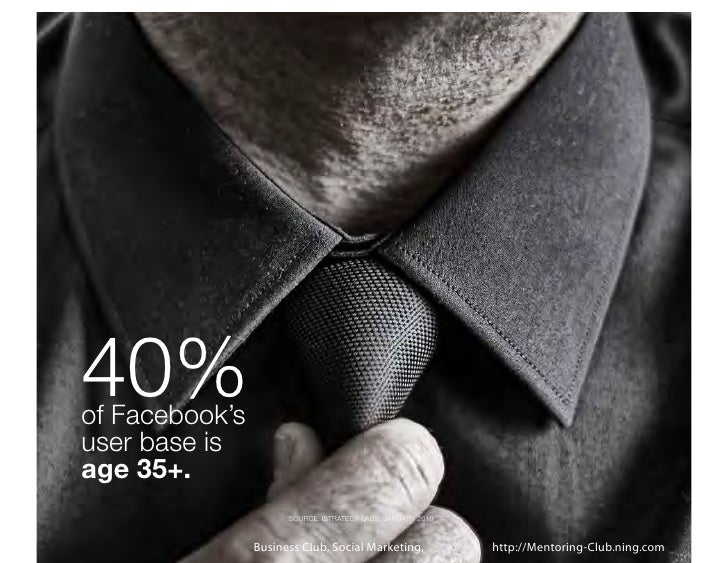40%of Facebook'suser base isage 35+.                      SOURCE: ISTRATEGY LABS, JANUARY 2010                Business Clu...