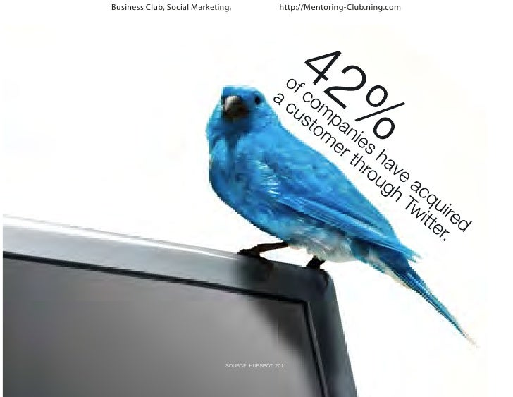Business Club, Social Marketing,                http://Mentoring-Club.ning.com                              SOURCE: HUBSPO...