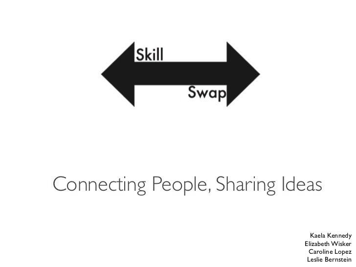 Connecting People, Sharing Ideas                               Kaela Kennedy                             Elizabeth Wisker ...