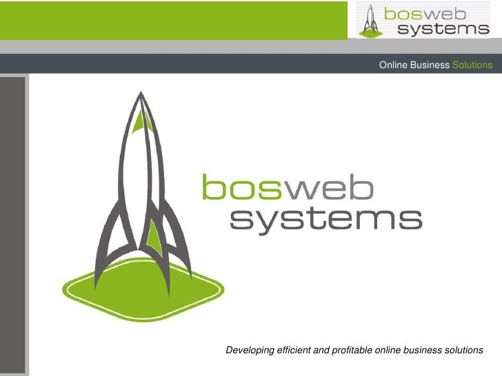 Developing efficient and profitable online business solutions<br />
