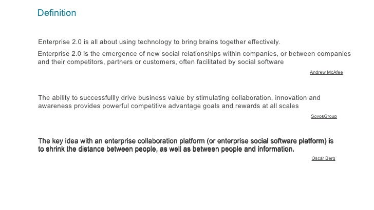 Collaborative enterprise social media definition for Soil media definition