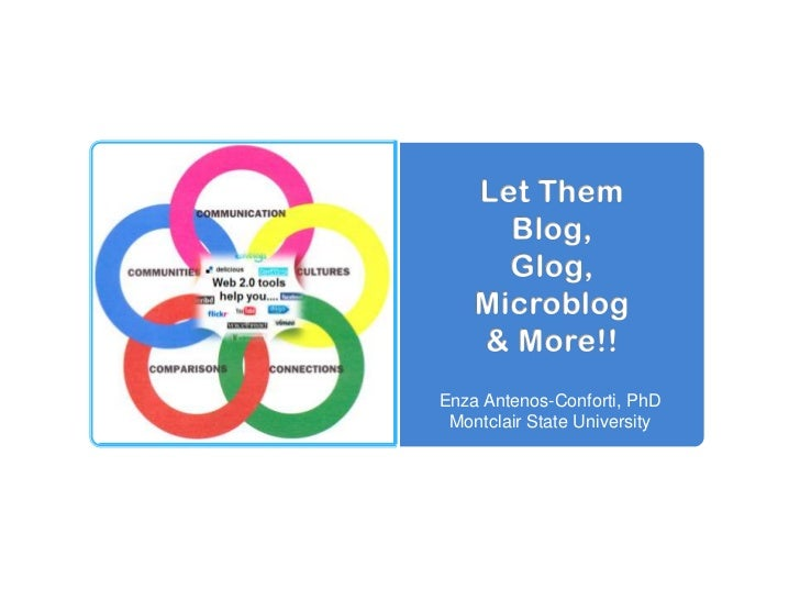 Let ThemBlog,Glog,Microblog& More!!<br />Enza Antenos-Conforti, PhD<br />Montclair State University<br />