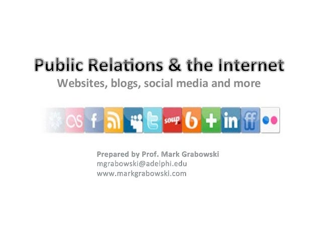 Websites, blogs, social media and more