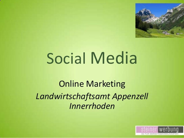 Social Media Online Marketing Landwirtschaftsamt Appenzell Innerrhoden