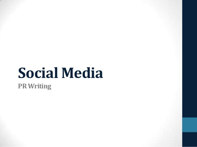 Social Media PR Writing