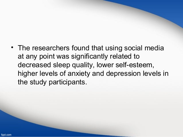 • The researchers found that using social media at any point was significantly related to decreased sleep quality, lower s...
