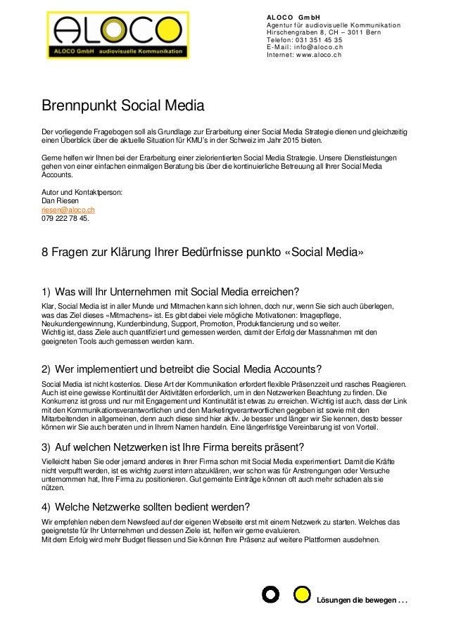 ALOCO GmbH Agentur für audiovisuelle Kommunikation Hirschengraben 8, CH – 3011 Bern Telefon: 031 351 45 35 E-Mail: info@al...