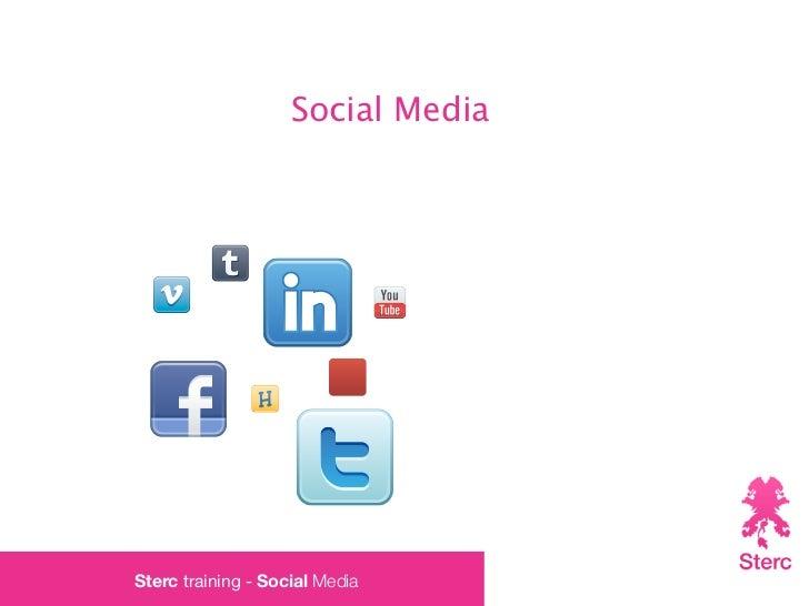 Social MediaSterc training - Social Media
