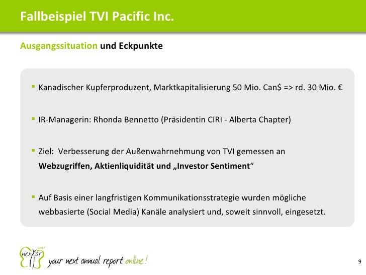 Fallbeispiel TVI Pacific Inc. <ul><li>Ausgangssituation  und Eckpunkte </li></ul><ul><ul><li>Kanadischer Kupferproduzent, ...