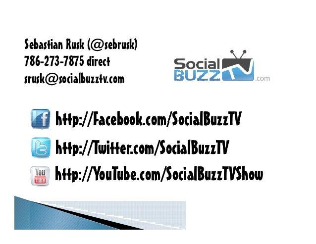 Sebastian Rusk (@sebrusk)786-273-7875 directsrusk@socialbuzztv.com      http://Facebook.com/SocialBuzzTV      http://Twitt...