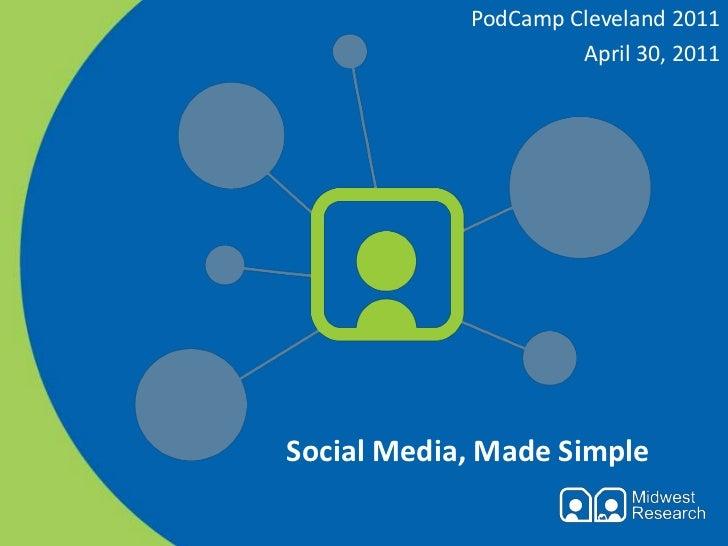 PodCamp Cleveland 2011<br />April 30, 2011<br />Social Media, Made Simple<br />