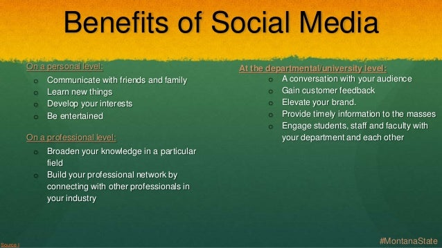 Do the benefits of social networking