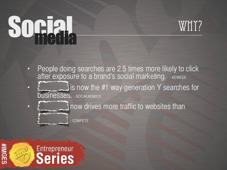 Social           media                                                            Why?          • People doing searches ar...