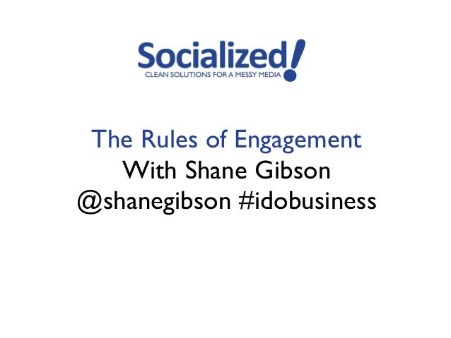 The Rules of Engagement   With Shane Gibson@shanegibson #idobusiness